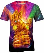 The Powerful Gauntlet Marvel Comics For Man And Women  3D T Shirt  All Over Printed Y97