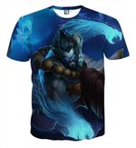 League of Legends Udyr Animal Spirit Featuring 3D T Shirt  All Over Printed G95