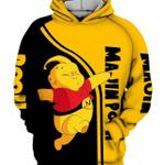 Winnie The Pooh Majin Buu Dragon Ball Z 3D All over printed Hoodie N98