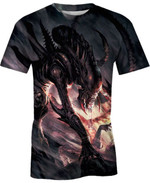 Alien and Predator For Man And Women 3D T Shirt  All Over Printed G95