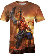 Orc Blademaster For Man And Women 3D T Shirt  All Over Printed G95