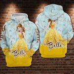 Belle cartoon beauty and the beast movie disney for man and women 3D Hoodie Zip Hoodie Y97