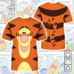 Winnie the Pooh Cartoon Tigger 3D All Over Printed T Shirt G95