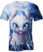 Light Fury Girlfriend of Toothless For Man And Women  3D T Shirt  All Over Printed Y97