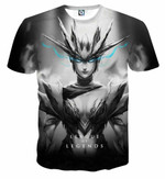 League of Legends Shyvana Female Fighter Full Printed 3D T Shirt  All Over Printed G95