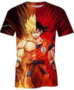 Goku Super Saiyan Split For Man And Women 3D T Shirt  All Over Printed G95