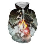 Assassin's Creed Connor White Angry Wolf Design Dope 3D All Over Printed Shirt Hoodie G95