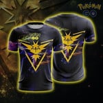 Zapdos Team Instinct Pokemon Go 3D T Shirt  All Over Printed For Man And Woman G95