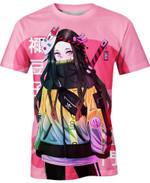 Street Style Nezuko Kamado Anime Manga For Man And Women  3D T Shirt  All Over Printed Y97
