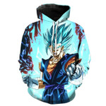 Dragon ball z super saiyan blue vegito 3D All Over Printed Shirt Hoodie G95