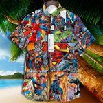 The Superhero Superman Dc Comics 3d Art Tropical Vintage Grateful For Man And Woman Print Short Sleeve Hawaiian Shirt G95