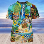 Pineapple skulls beach for man and women 3D T shirt all over printed Y97
