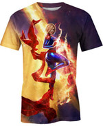 Captain Marvel For Man And Women 3D T Shirt  All Over Printed G95