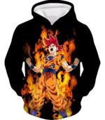 Dragon ball super saiyan god red fire 3D Hoodie Zip Hoodie For Man And Woman G95