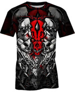 Power Skull For Man And Women 3D T Shirt  All Over Printed G95