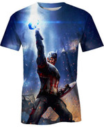 Captain Lifts Thor's Hammer For Man And Women 3D T Shirt  All Over Printed G95