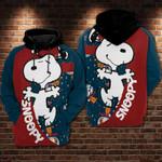 Astronaut snoopy cartoon peanuts movie disney for man and women 3D Hoodie Zip Hoodie Y97
