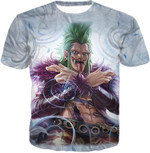 One piece super rookie bartolomeo barrier devil fruit 3D T Shirt G95