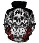 Skulls Asking Alexandria 3D All Over Printed Shirt Hoodie G95