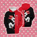 Cartoon Character Peek Mickey Minnie 3D Hoodie Zip Hoodie G95