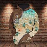 Baby Sea Turtle 3D All Over 3D Hoodie Sweatshirt Zip Hoodie T shirt VA95