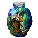 Guardians Of The Galaxy Awesome Rocket Raccoon Green  3D All Over Printed Shirt Hoodie G95