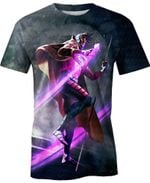 Gambit Marvel Movie Marvel For Man And Women  3D T Shirt  All Over Printed Y97