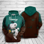Snoopy and woodstock cartoon peanuts 1 for man and women 3D all over printed hoodie Y97