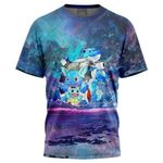 Squirtle Splash Pokemon For Man And Women 3D T Shirt  All Over Printed G95