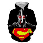 The Wicked Black Superman Dark 3D All Over Printed Shirt Hoodie G95