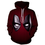 Marvel Wade Wilson Deadpool Red Suit 3D All Over Printed Shirt Hoodie G95