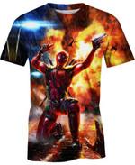 Hyper Deadpool For Man And Women 3D T Shirt  All Over Printed G95