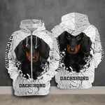 Dachshund dog animals for man and women 3D all over printed zip hoodie Y97