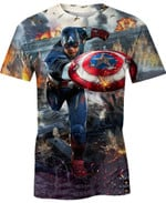 Throwing Captain America Movie Marvel For Man And Women  3D T Shirt  All Over Printed Y97