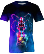 Iron Spidey Movie Marvel For Man And Women  3D T Shirt  All Over Printed Y97
