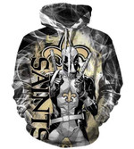 Deadpool New Orleans Saints Pullover Black 3D All Over Printed Shirt Hoodie G95