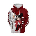 Minnie mouse red movie disney  for man and women 3D all over printed zip hoodie Y97