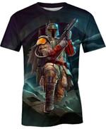Boba Fett Bounty Hunter For Man And Women 3D T Shirt  All Over Printed G95