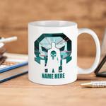 White Mug Marvel Comics The Punisher Premium Sublime Ceramic Coffee Mug