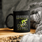 All men are created equal but the best can still ride bicycles in their sixties ceramic coffee mug