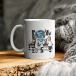 Rich and morty the simpsons futurama family guy mashup ceramic coffee mug