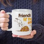 White Mug Snoopy Cartoon Peanuts Friends Til The End Premium Sublime Ceramic Coffee Mug