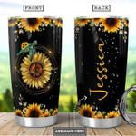 Mother Turtle Sunflower Personalized hippie  Gift for lover Day Travel Tumbler All Over Print