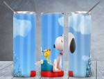 Snoopy cartoon 255 gift for lover Skinny Tumbler