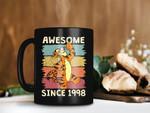 Black Mug Tigger Awesome Since 1998 Mug Customized Year of Birth Mug Personalized Mug Vintage Mug Disney Premium Sublime Ceramic Coffee Mug