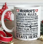 White mug mormor's house rules grandkids always welcome parents by appointment only dessert comes first laugh Premium Sublime Ceramic Coffee Mug