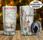 Meine Tochter Germany To My Daughter Personalized Gift for lover Day Travel Tumbler All Over Print