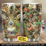 Personalized Deer Hunting 45 Gift for lover Day Travel Tumbler All Over Print