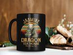 Black Mug Retro Vintage Mug Jasmine Dragon Tea House Ba Sing Se Uncle Iroh Mug General Iroh Mug Avatar Mug Premium Sublime Ceramic Coffee Mug