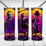Jason Voorhees Michael Myers Freddy Krueger Horror movies 233 gift for lover Skinny Tumbler